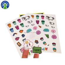 Custom Logo Sticker Sheet Printing Self Adhesive A4 Paper Sheet Kiss Cut Stickers