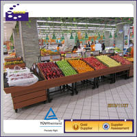 Supermarket fruit and vegetable display rack