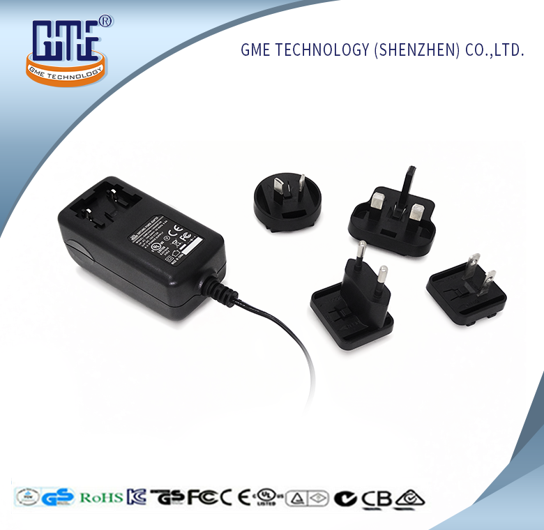 universal changeble plug power adapter 12V 1A