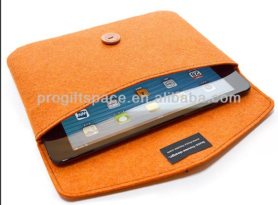 2017 hot sell new handmade orange polyester wholesale felt waterproof and shockproof laptop case made in China