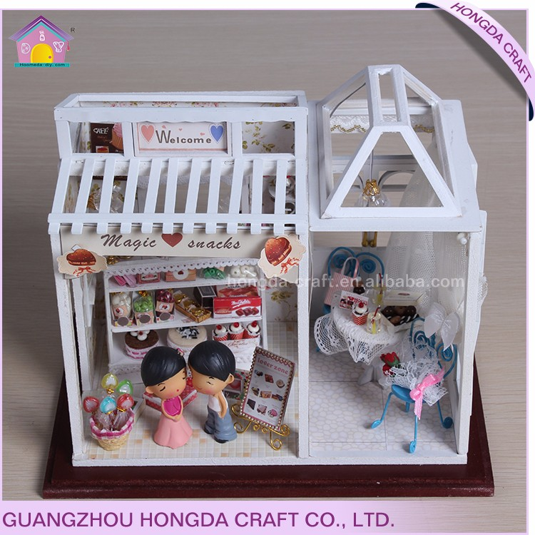 Wholesale diy miniature dollhouse wooden house <strong>crafts</strong>
