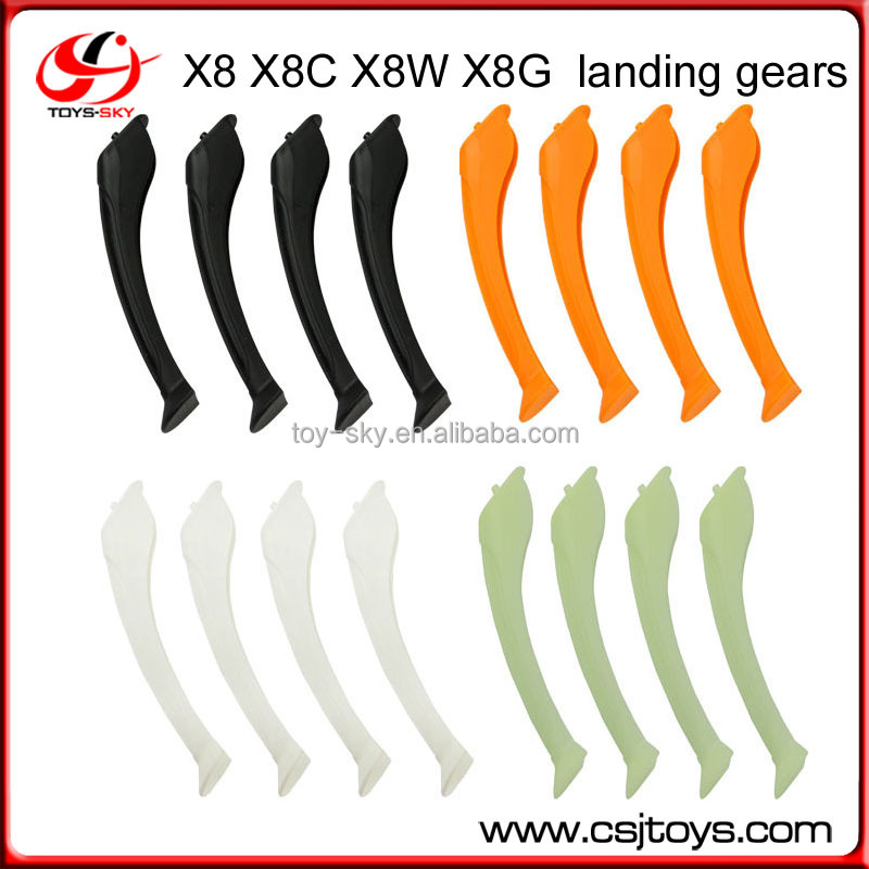 4PCS Syma X8 X8C X8W 2.4G 4CH 6-Axis RC Quadcopter Drone spare parts landing gears landing skids
