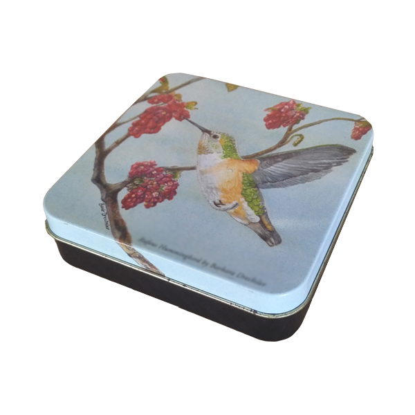 OEM gift use small square metal tin boxes