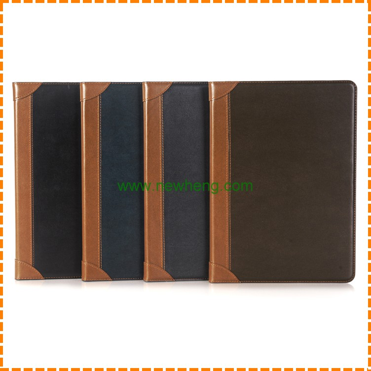 Hit Color Tabelt Leather Flip Cover Folding Stand Cover Case for iPad Pro 12.9