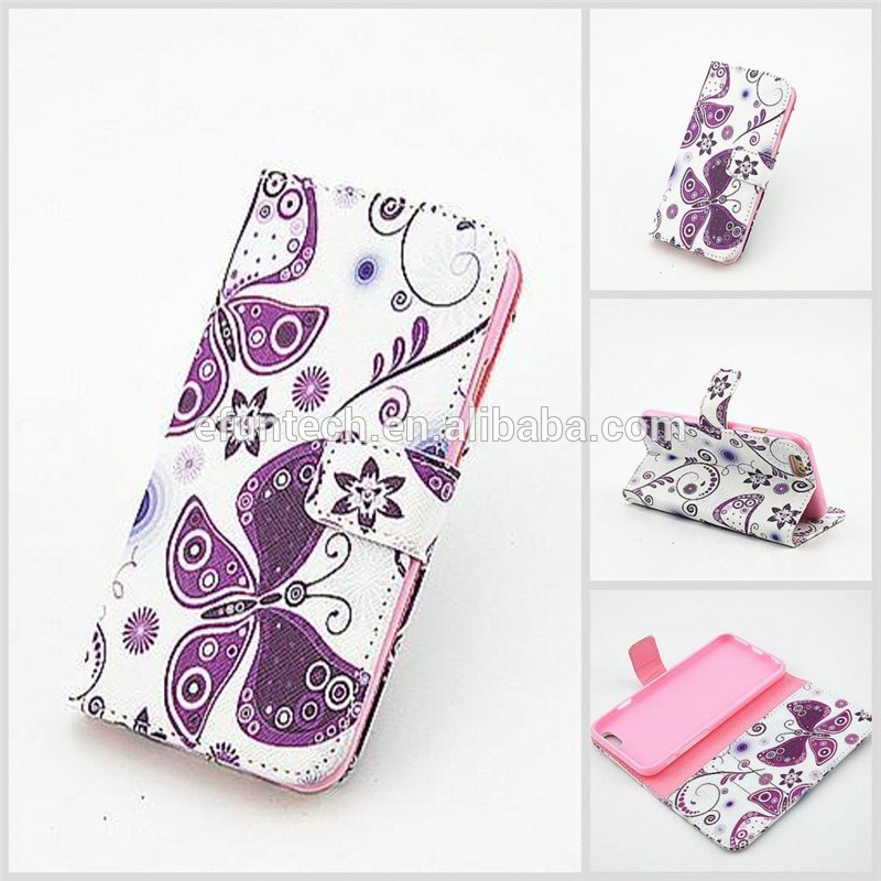 Cheap mobile phone cases girls use lovely image PU leather wallet flip cell phone case For samsung Note4 Note3 S5 case