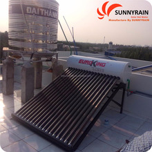 New type complete non-pressurized solar water heater price