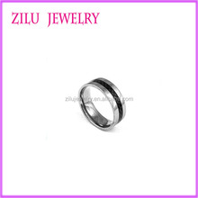 Wholesale Stainless Steel Carbon Fiber Ring Cheap Beautiful Mans Ring Fashion Stainless Steel Jewelry