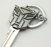 Transformers 3 Decepticons Logo key blank keychain hanging buckle Pendant Gifts autobot optimus