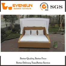Large Size Day Bed Rattan With Canopy Wicker Furniture