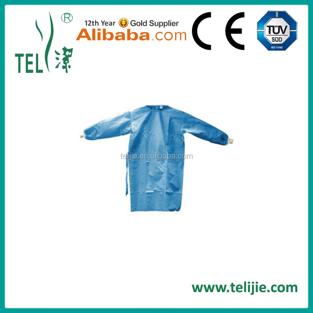 disposable hospital operation theatre surgical gown with CE FDA ISO13485