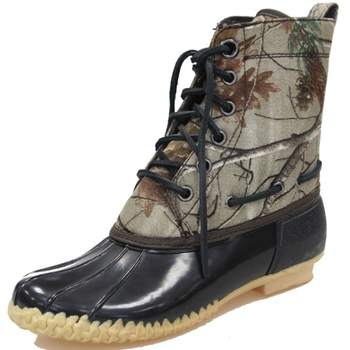 Women's Fashion Camo Winter Duck Boots With Rubber Sole