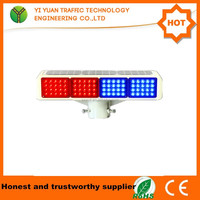 traffic security sign flashing led solar beacon lights