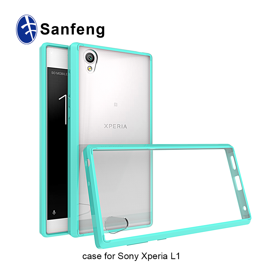 New Candy Color Clear Soft TPU Bumper Mobile Phone Case For Sony Xperia L1 Back Cover