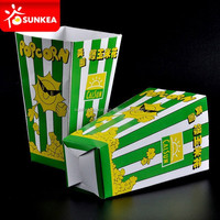 Dependable Cardboard Film Theater Popcorn Box / Popcorn Bucket Pail