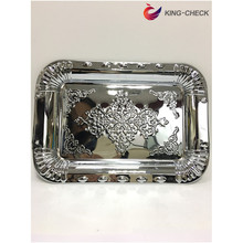 Ramadan Iron Tray with Plastic Handles for Thanksgiving Day Turkey tray
