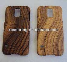 Wooden skin case for Samsung Galaxy S5, plastic cover for Samsung I9600