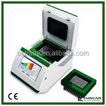 "A300 CE approval PCR product 7"" Color touch screen fast gradient thermal cycler"