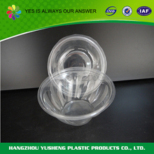 Plastic salad container, clear salad bowl with lid