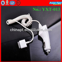 Car Cigarette Power Charger with Cable For Ipad2/Ipad/4S/4G