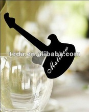 PD-059 black violin Glass place cards