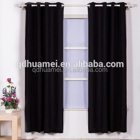 Top quality 100% polyester ready made curtain, window curtain factory from China