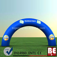 Blue Commercial Water Proof Inflatable Advertising Round Arch