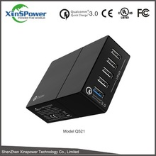 CE UL ROHS FCC authentication multi pin mobile charger QC3.0,universal mobile charger