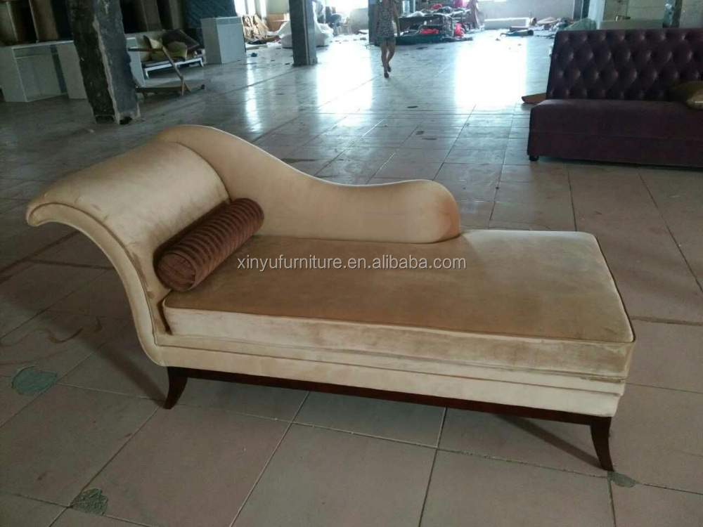 Antique Italian fabric lounge chaise XYN2175