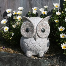 Hot sale garden decoration marble carvings natural stone owl statue