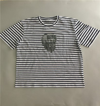 mens new 100%cotton blank striped t-shirts
