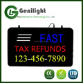 innovative indoor advertising fast tax refunds open flashing led store display signage led light box