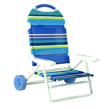 folding beach chair with wheels
