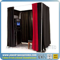 portable foldable photo booth-- Pipe and drape system