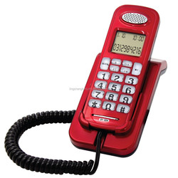 Slim Analog Phone with Caller ID Handset Wall Mount