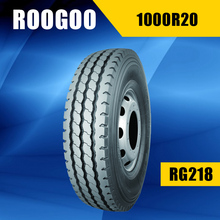 ROOGOO brand truck tire for dumping truck and agitating lorry 1100r20 1000r20 1200r20 tires