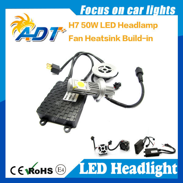 auto LED Headlight 24V 50W LED 1800LM*2 High bright waterproof SINGLE BEAM LED CONVERSION KIT Motorcycle headlight