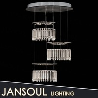 zhongshan classical new designed modern crystal ring led hanging pendant lights over island