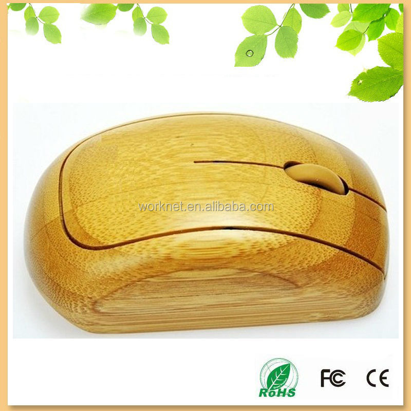 novelty natural handcrafted bamboo wireless optical mouse WK96-N