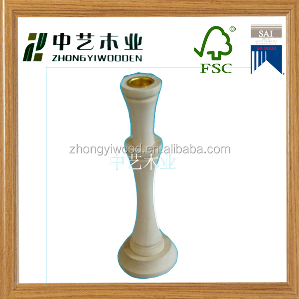 Wholesale custom china supplie Cheap unfinished Wooden Candlestick Holder