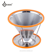 Stainless Steel coffee dripper with Cup Stand JS-CT016
