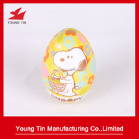 hot sale easter egg shaped candy tin box