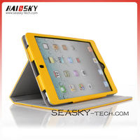 for ipad mini 3 stand gears PU leather case