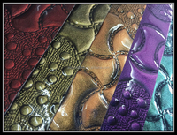 high gloss spraying embossed pvc synthetic leather material