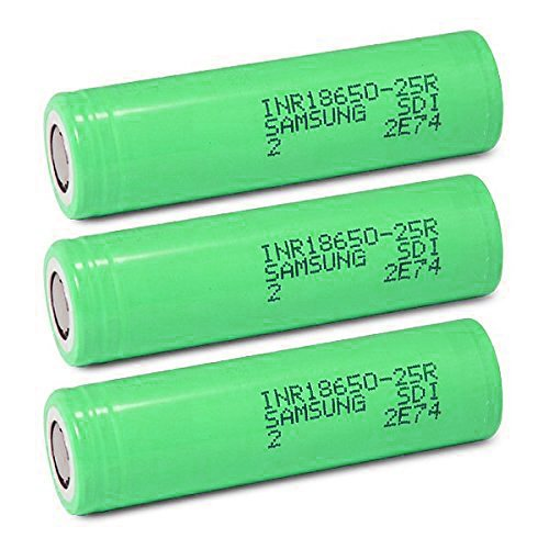 Samsung INR18650-25R 18650 2500mAh 3.7v Rechargeable Flat Top Batteries