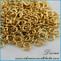 gold jewelry parts, brass jewelry parts, closed jump ring