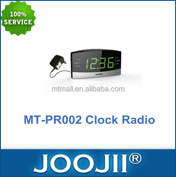 Home PLL Digital LED Alarm Clock AM/FM Radio With 1.8 inch Green LED Display