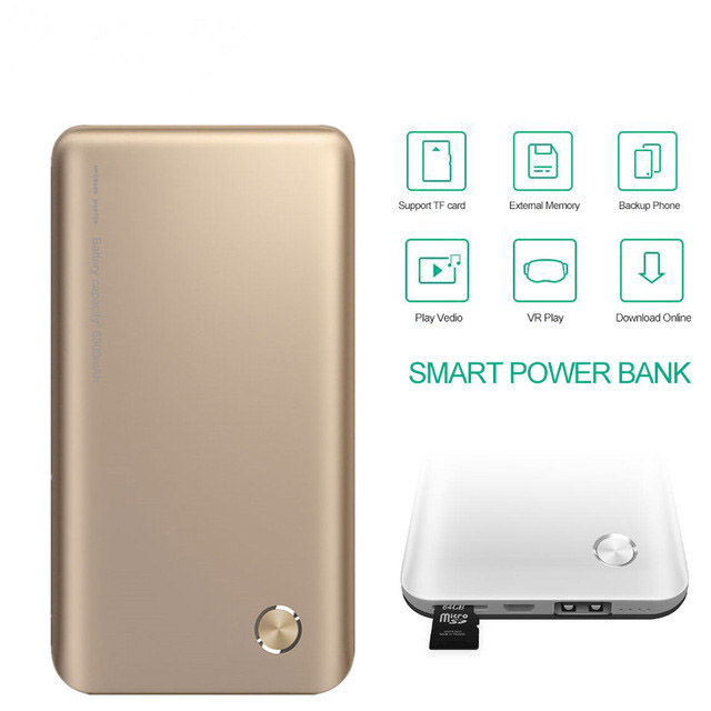 Smart powerbank support TF card VR play with special APP dowload on line