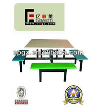 Fast Food Table and Chair for Carteen Furniture/School Mess Hall Desk and Chair/Restsaurant Furniture