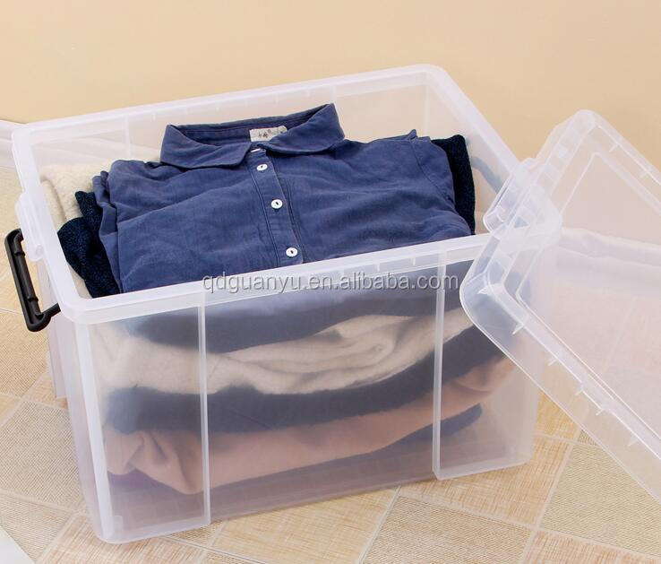 Home transparent plastic storage container