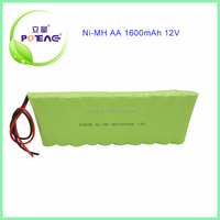 10s1p rechargeable nimh battery pack aa 12v 1600mah
